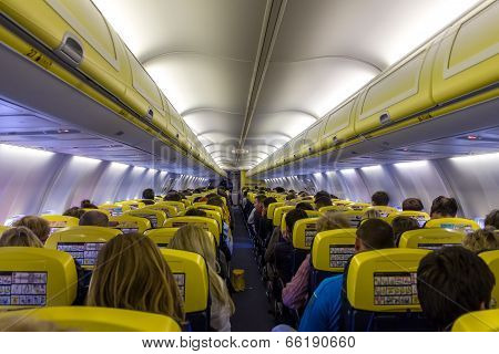 Passenger Compartment Of The Aircraft Company Ryanair