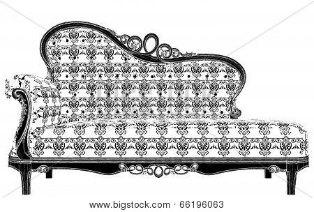 Antique Sofa Vector 21.eps
