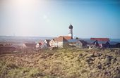 Scenic picture of rural village of Finningen near Ulm in Germany poster