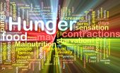 Background concept illustration of hunger malnutrition starvation glowing light effect poster