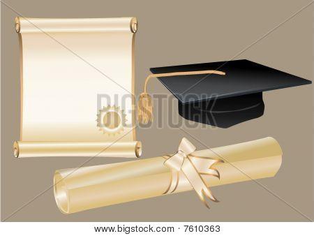 Diploma Mortar And Certificate
