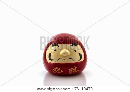 Darumas lucky doll symbols of Japan's cultural and spiritual tradition. These beautiful good luck charms are part of Japanese New Year celebrations. poster