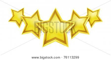 An image of a five star rating service poster