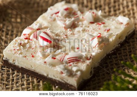 Homemade Holiday Peppermint Bark with White and Dark Chocolate poster