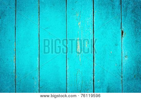 Wooden Turquoise Textured Background