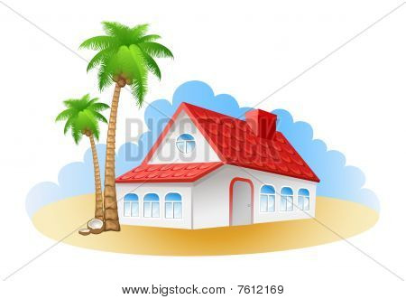 Cottage on a beach