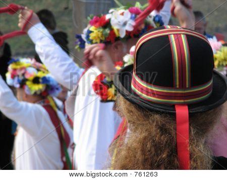 Colorful Hat Of Morris Dancers