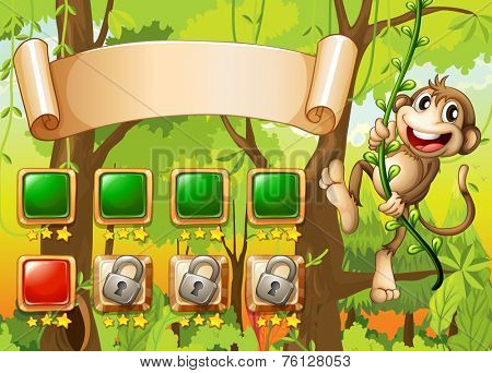 Monkey game design with elements