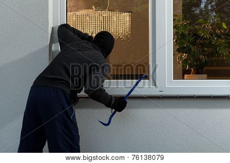Burglar Before Burglary Into The House