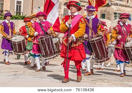 In Guardia Parade At St. Jonh's Cavalier In Birgu, Malta.