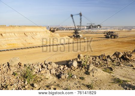 Giant Bucket Wheel Excavator