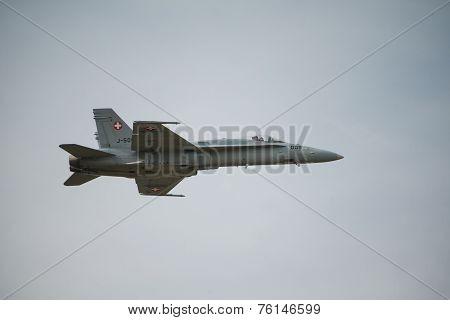 Swiss Airforce F18 Hornet Fighter Aircraft