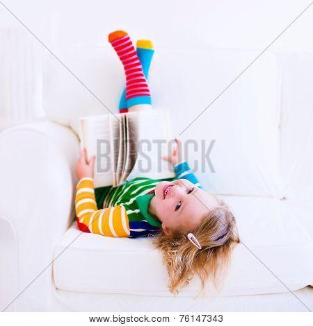 Little Beautiful Girl Reading