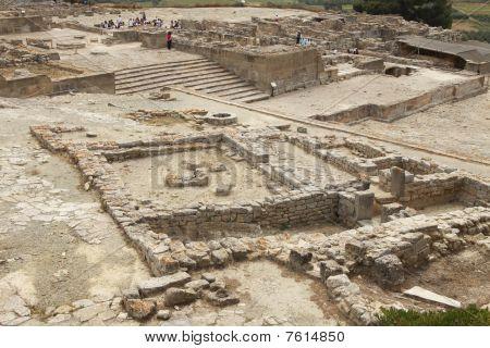 Archeological Site Of Phaistos In Crete