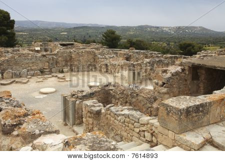 Archeological Site Of Festos In Crete