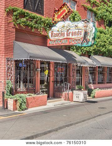 Route 66: Historic El Rancho Grande Neon Sign And Shield, Tulsa, OK
