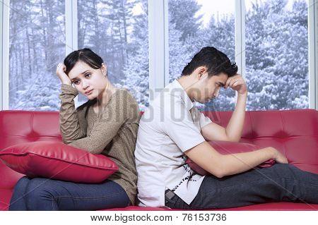 Hispanic Couple Having Problem At Home