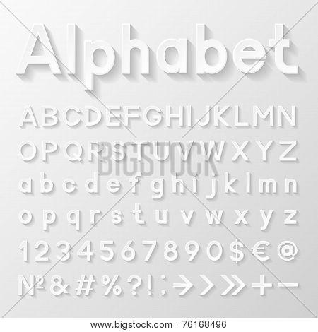 Decorative paper alphabet. Vector illustration