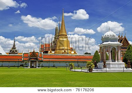 Greensward And Golden Pagoda