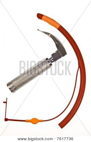 Cuffed Endotracheal Tube And Laryngoscope