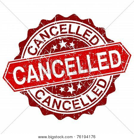 Vector Cancelled Red Vintage Stamp Isolated On White Background