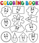 Coloring book various shapes 2 - eps10 vector illustration. poster