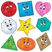 Various shapes theme image 1 - eps10 vector illustration. poster