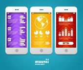 Vector elements of UI. User interface and infographic. poster