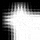 Abstract closeup of a circle with lines and squares as the halftone pattern. Usually halftone patterns are of dots or circles but this with cut lines and squares. poster
