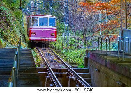 Cable Car to Mt. Koya in Wakayama, Japan