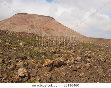 A mountain in the desert of Fuerteventura
