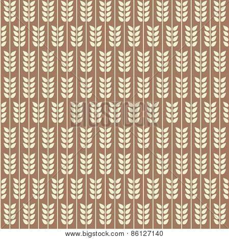 Leaflets seamless pattern