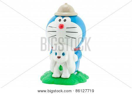 Doraemon A Blue Robot Cat With Blowgun