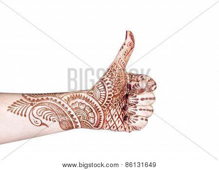 Merudanda Mudra With Henna