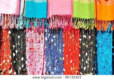 Colorful Of Handmade Clothes Of Karen Tribe