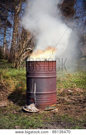 Barrel Fire Portrait Format