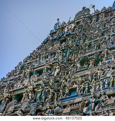 Statues of deities in ancient Kapaleeswarar Temple