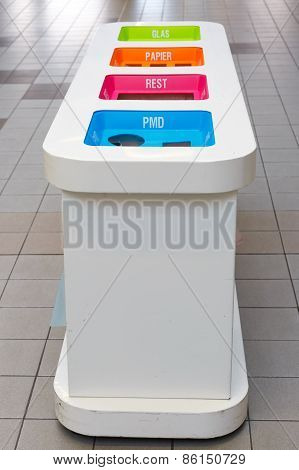 Waste sorting bins