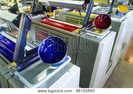 offset printing press and ink pot