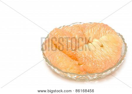 Pummelo Fruit,thai Fruit  Isolated On A White Background.