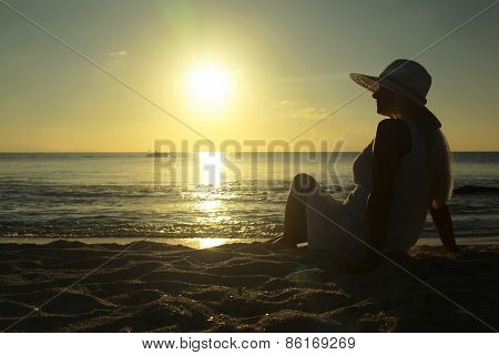 Girl Enjoying Sunset