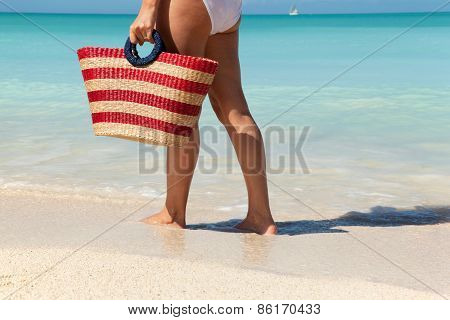 Women Walking Along The Sea