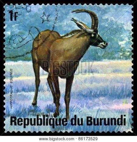 Vintage  Postage Stamp. Niala, Animals Burundi,