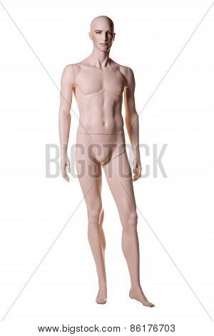 Man mannequin male isolated over white background poster