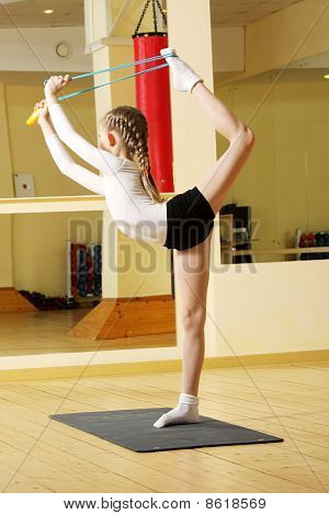 Little Gymnast With Skipping Rope