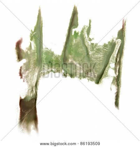 abstract hand light green drawn watercolor blot insult Rorschach