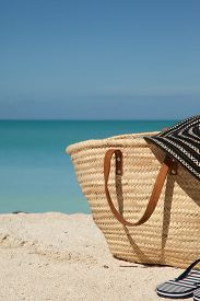 Vertical Picture Of Beach Bag