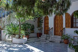 Enclosed Court Of The Saint Nektarios Church.