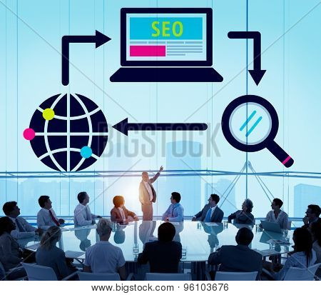 SEO Search Engine Optimization Digital Computer Internet Concept poster