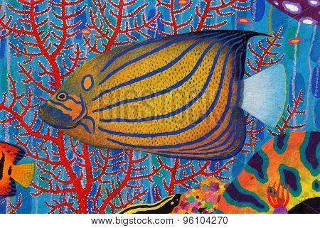 Blue Ring Angelfish (pomacanthus Annularis)